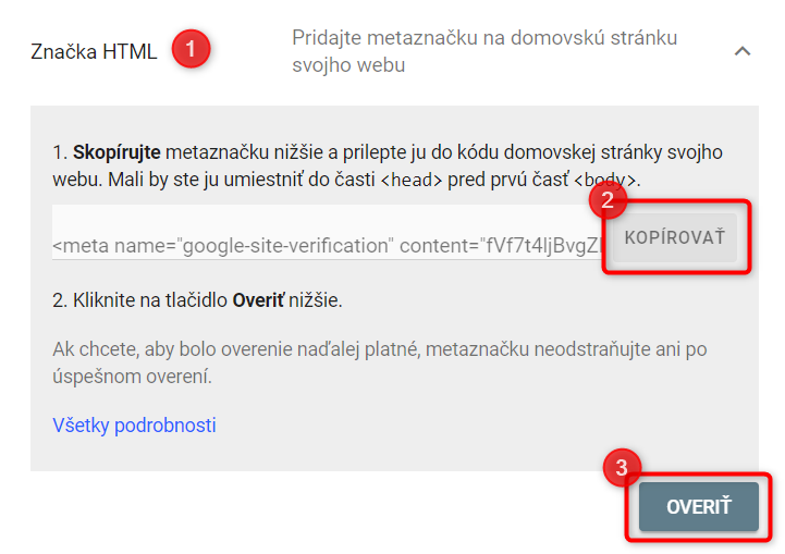 verification Google Search Console