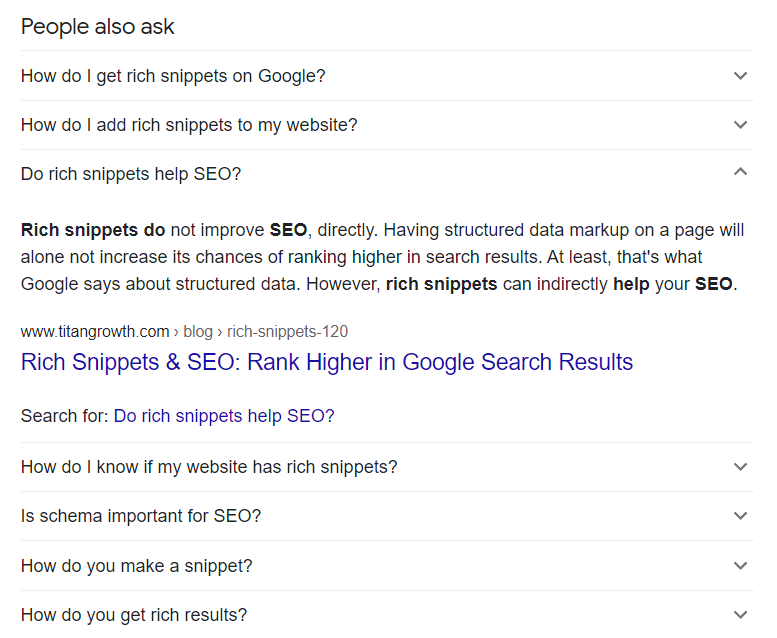 rich snippet faq impressions google search console