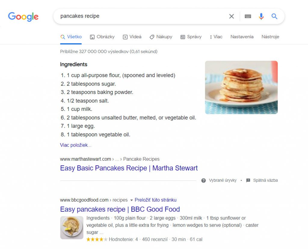 rich snippet recipe pancakes